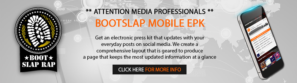 BootSlap Mobile EPK's for Media Professionals. Click Here >