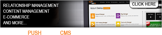 Get PushPowerCMS to power your online business! Click Here >